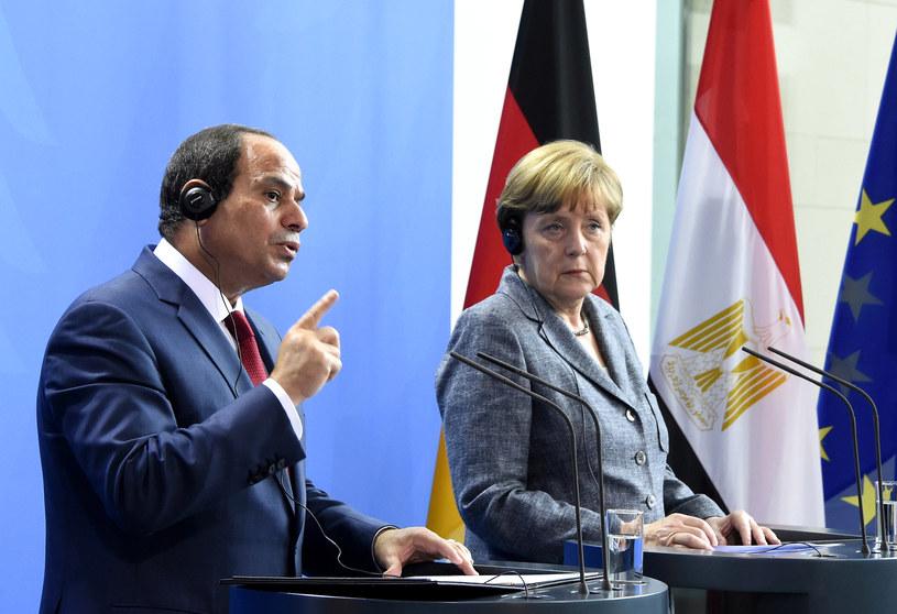 Prezydent Egiptu i kanclerz Niemiec /AFP