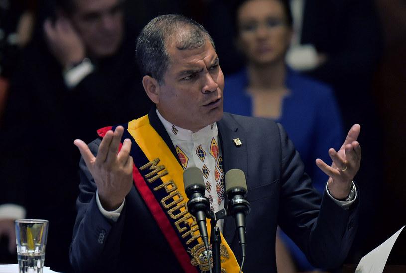 Prezydent Ekwadoru Rafael Correa /AFP