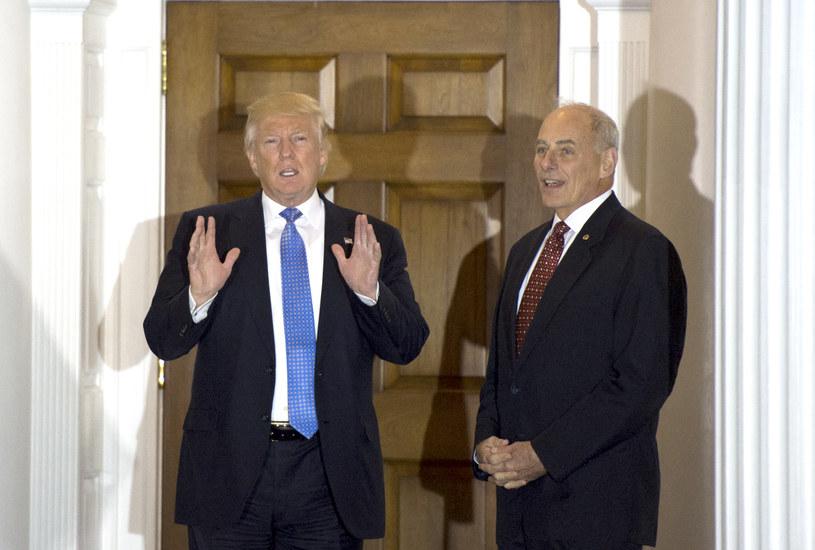 Prezydent-elekt Donald Trump i generał John Kelly /AFP