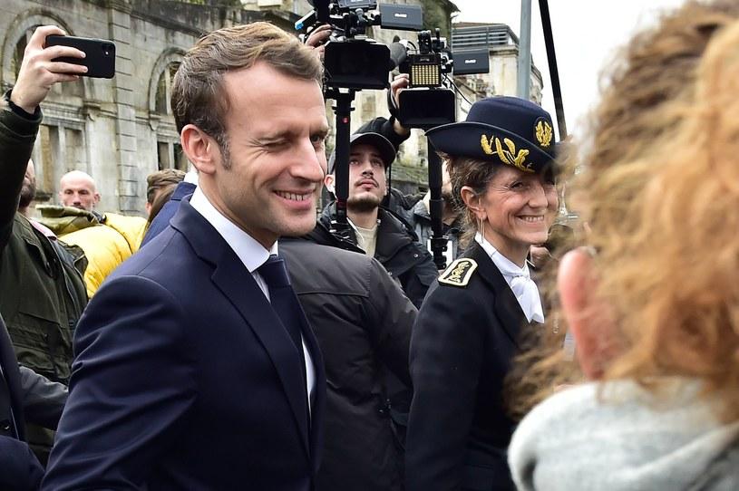 Prezydent Emmanuel Macron /AFP
