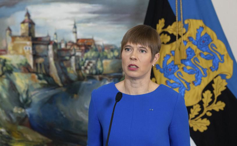 Prezydent Estonii Kersti Kaljulaid /RAIGO PAJULA /AFP