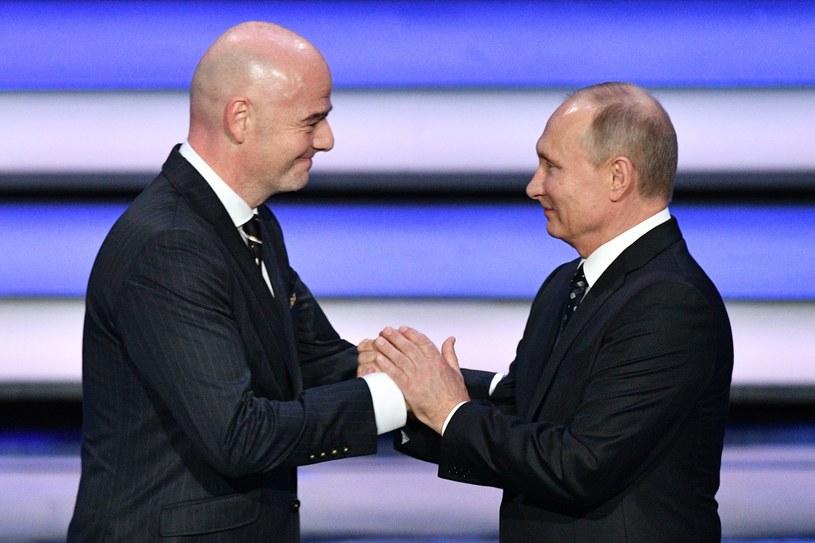 Prezydent FIFA Gianni Infantino i prezydent Rosji Władimir Putin /AFP