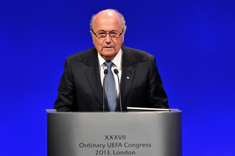 Prezydent FIFA - Sepp Blatter /AFP