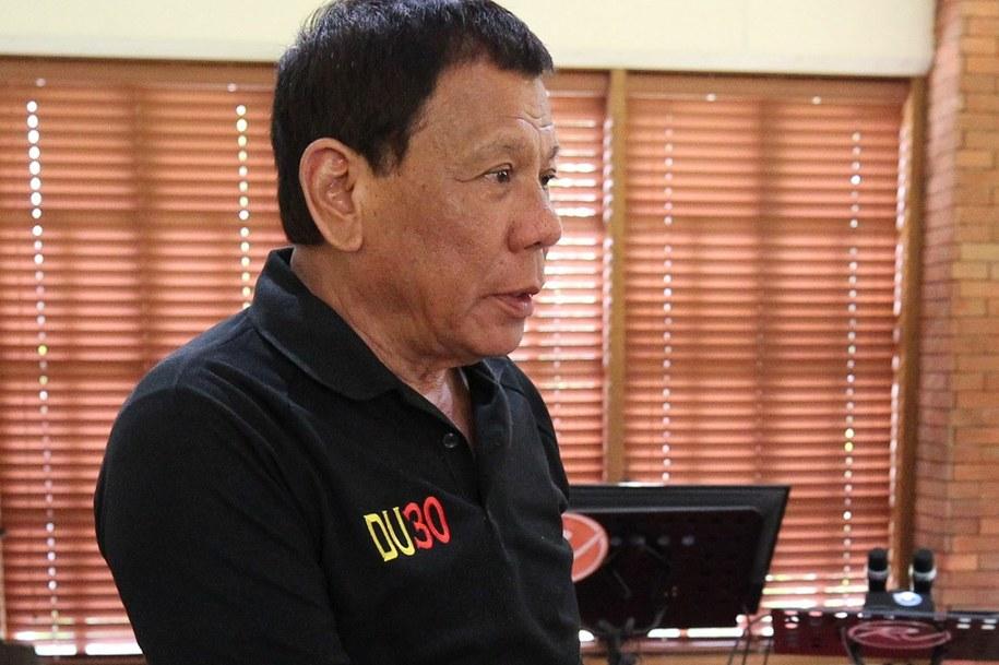 Prezydent Filipin Rodrigo Duterte /ACE MORANDANTE / HANDOUT /PAP/EPA