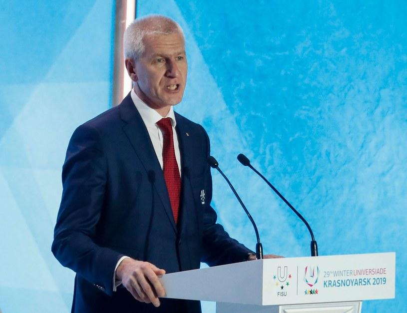 Prezydent FISU Oleg Matytsin /AFP