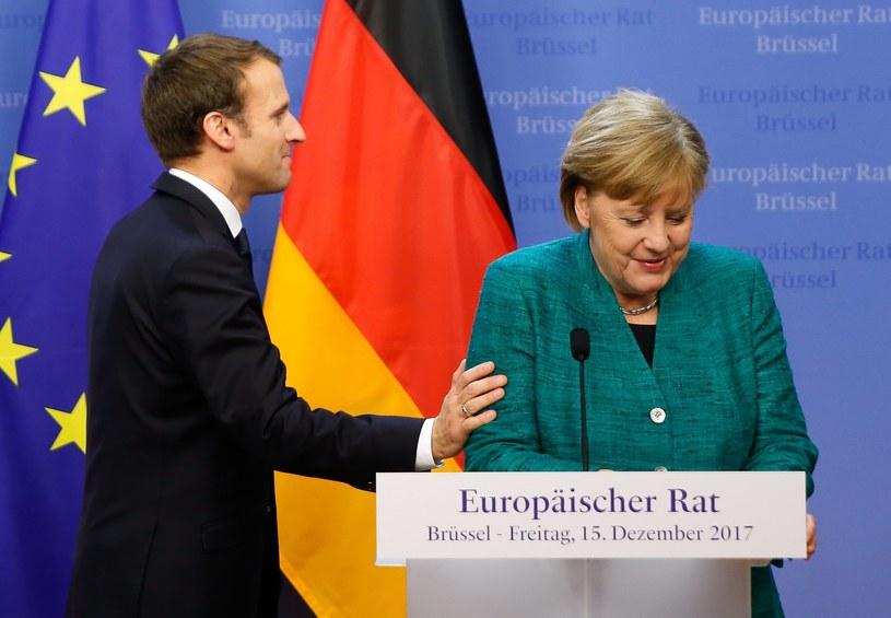 Prezydent Francji Emmanuel Macron i kanclerz Niemiec Angela Merkel /JULIEN WARNAND /PAP/EPA