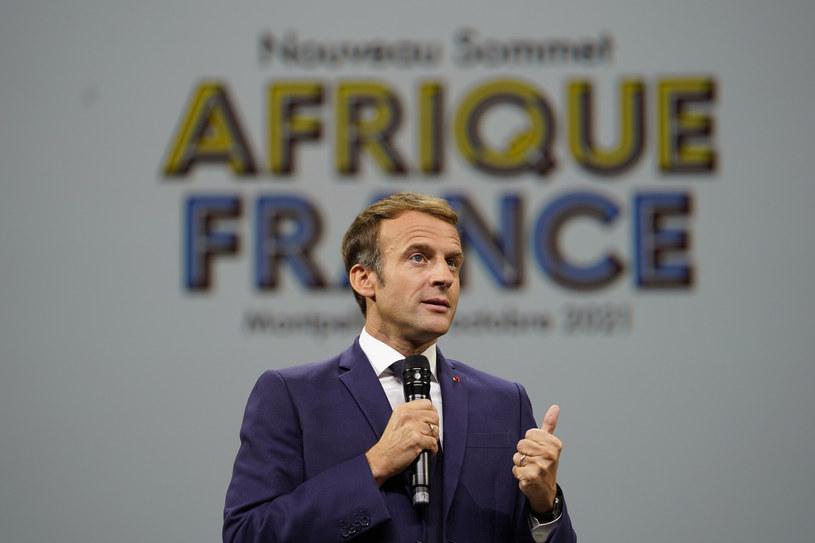 Prezydent Francji Emmanuel Macron podczas szczytu Francja-Afryka w Montpellier /AP /East News