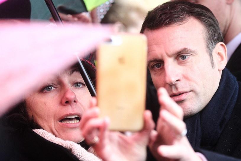 Prezydent Francji Emmanuel Macron przyjechał we wtorek do Collegium Novum Uniwersytetu Jagiellońskiego w Krakowie //Łukasz Gągulski /PAP