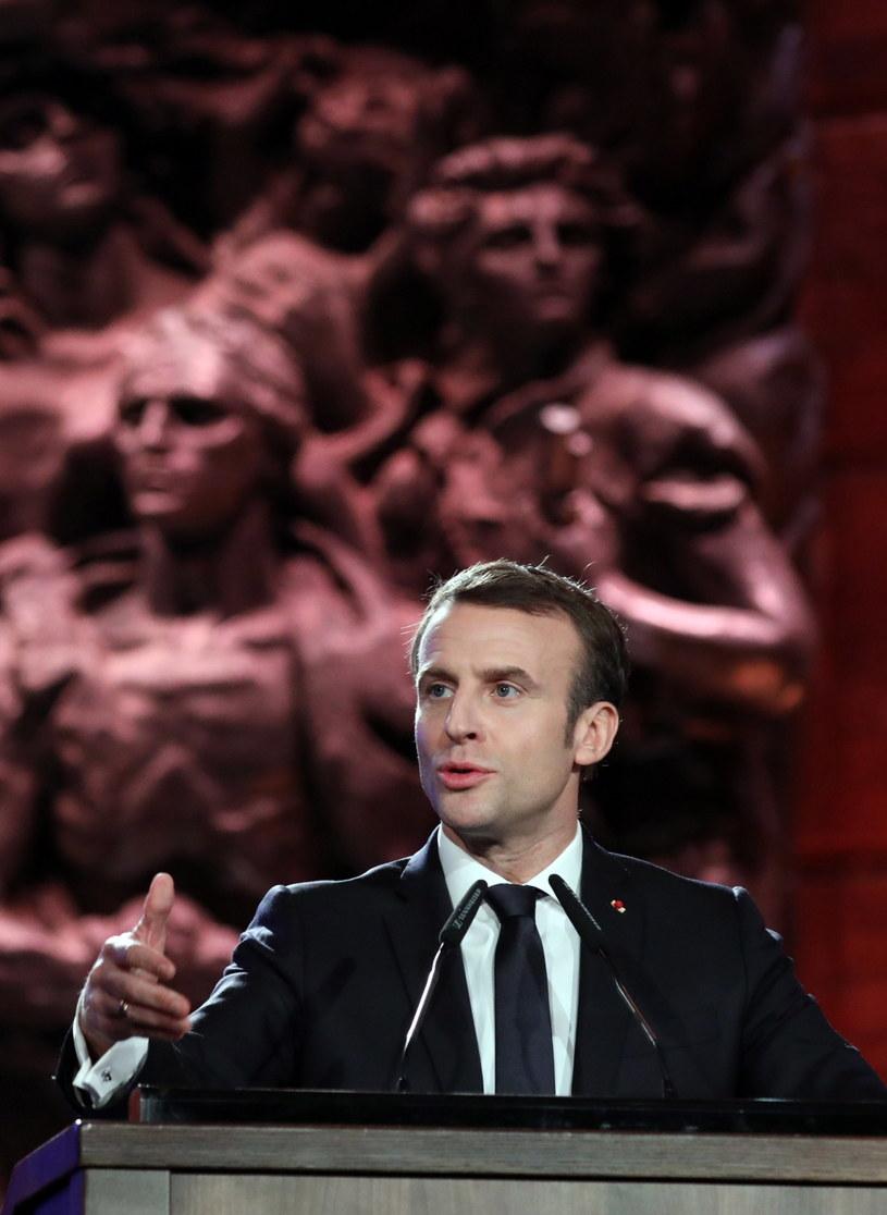 Prezydent Francji Emmanuel Macron /ABIR SULTAN / POOL /PAP/EPA
