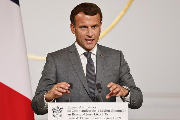 Prezydent Francji Emmanuel Macron /LUDOVIC MARIN /PAP/EPA