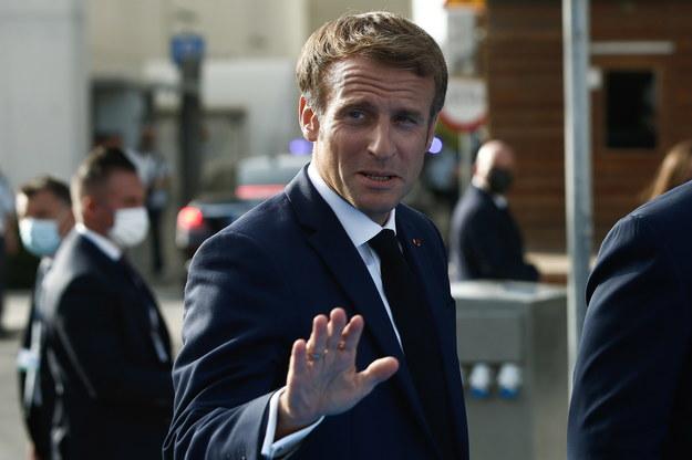 Prezydent Francji Emmanuel Macron /YIANNIS KOLESIDIS /PAP/EPA