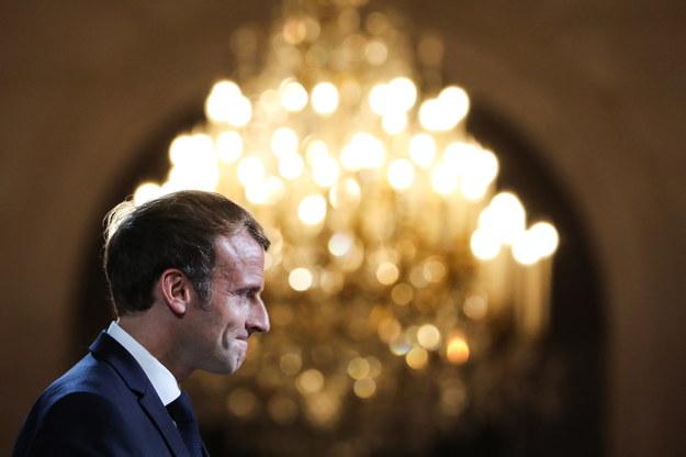 Prezydent Francji Emmanuel Macron /STEFANO RELLANDINI  /PAP/EPA