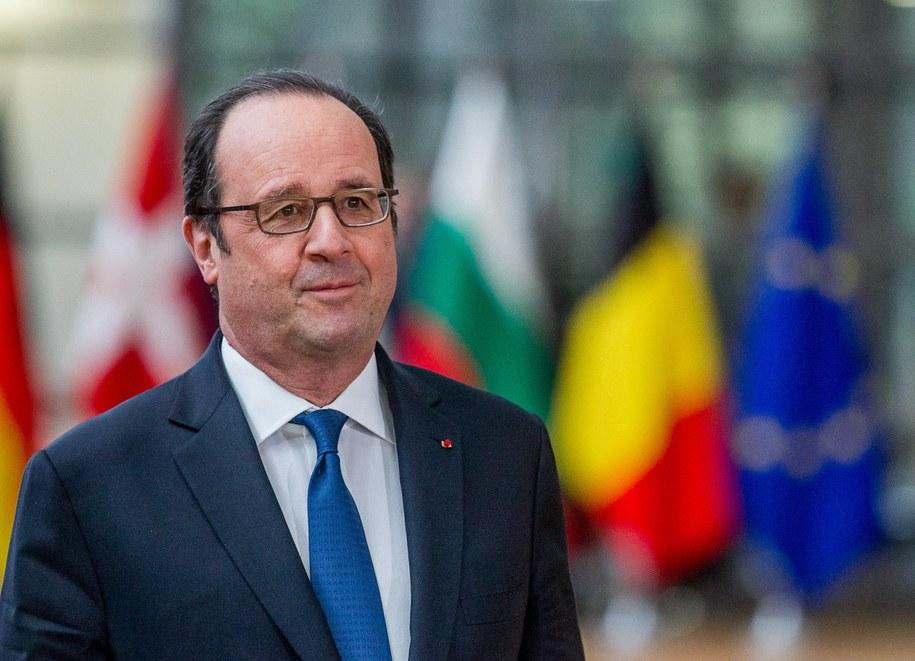 Prezydent Francji Francois Hollande /STEPHANIE LECOCQ  /PAP/EPA