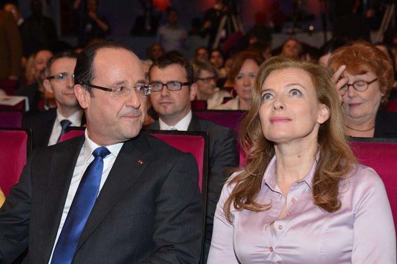Prezydent Francji i Valerie Trierweiler /AFP