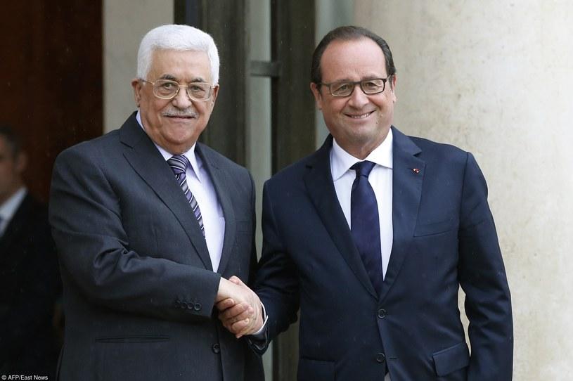 Prezydent Francji w towarzystwie Przywódcy Palestyńczyków /PATRICK KOVARIK /East News