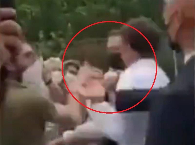Prezydent Francji zaatakowany przez obywatela! /Twitter