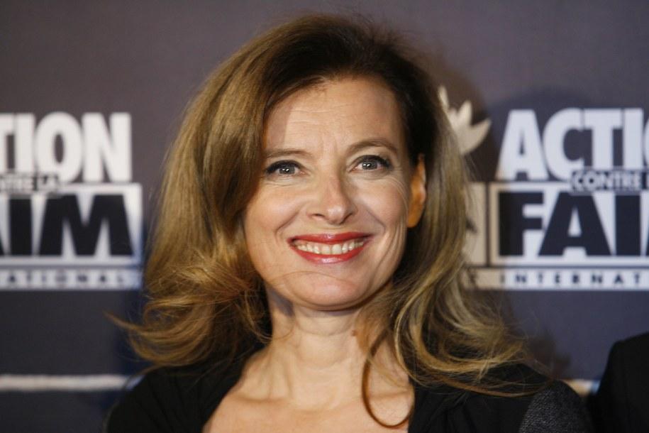 """Prezydent Francji żyje z Valerie Trierweiler """"na kocią łapę"""". Z tego powodu nie może być ona uważana za Pierwszą Damę /Gwendoline Le Goff    /PAP/EPA"""
