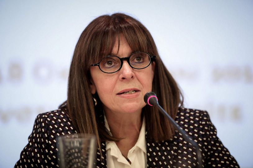 Prezydent Grecji Katerina Sakellaropulu /Vassilis Rempapis /East News