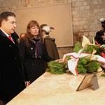 Prezydent Gruzji złożył kwiaty na sarkofagu Lecha i Marii Kaczyńskich