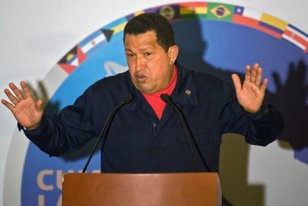Prezydent Hugo Chavez /AFP