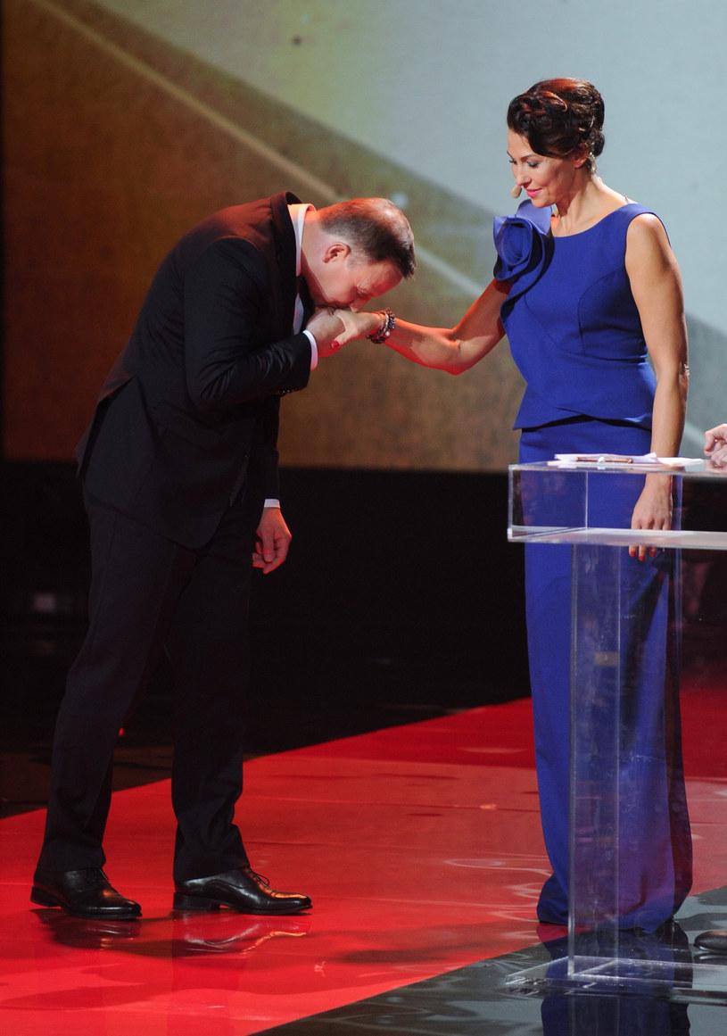 Prezydent i Anna Popek /Bartosz Krupa /East News