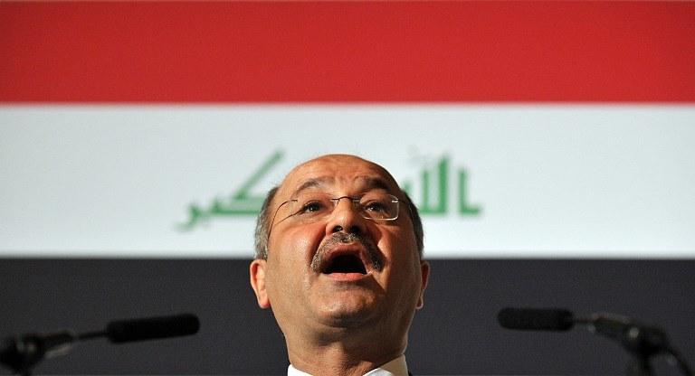 Prezydent Iraku Barham Salih /Leon Neal /AFP