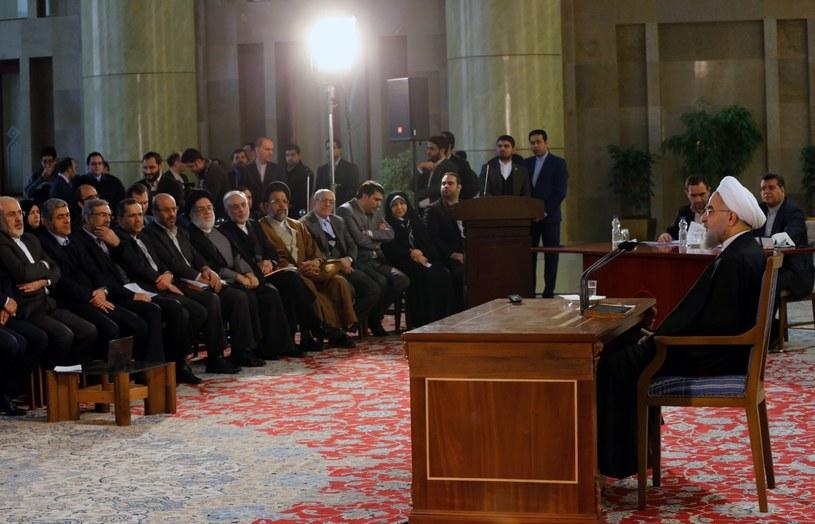 Prezydent Iranu Hasan Rowhani /Abedin Taherkenareh   /PAP/EPA