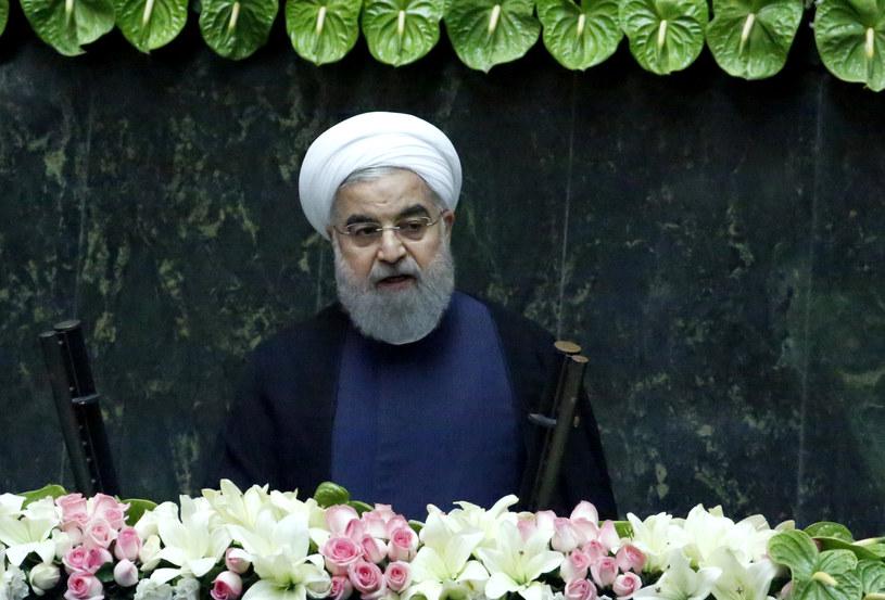 Prezydent Iranu Hassan Rouhani /ATTA KENARE /AFP