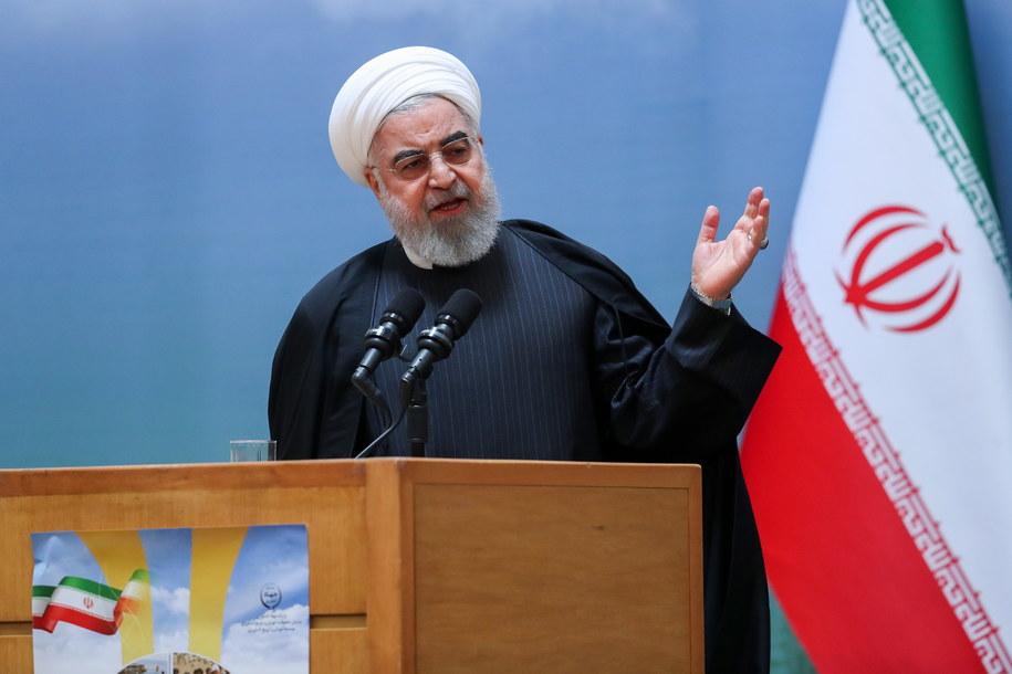 Prezydent Iranu Hassan Rouhani /IRAN'S PRESIDENT OFFICE HANDOUT /PAP/EPA