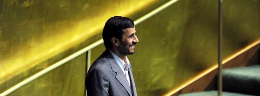 Prezydent Iranu Mahmud Ahmadineżad /JUSTIN LANE /PAP/EPA