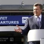 Prezydent Janukowycz do pracy helikopterem. Bo korki w mieście