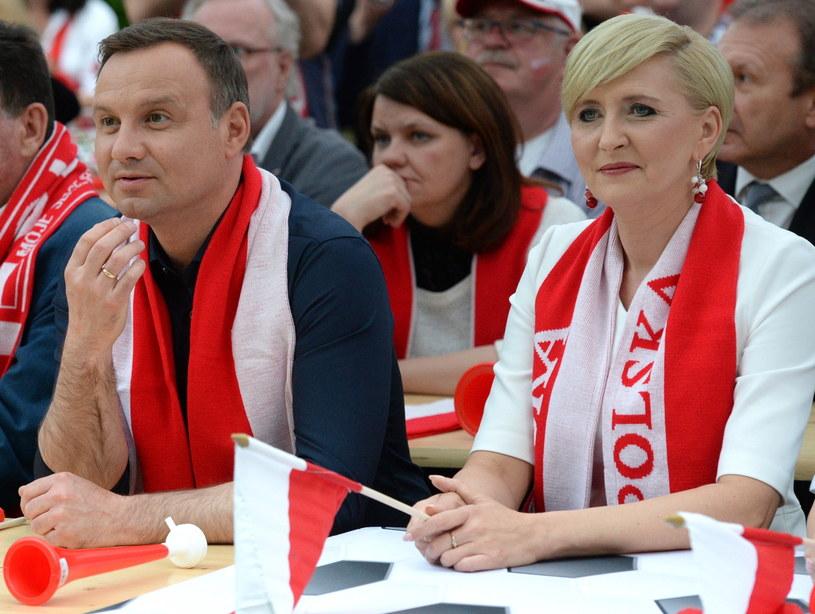 Prezydent kibicował Polakom /Jacek Turczyk /PAP