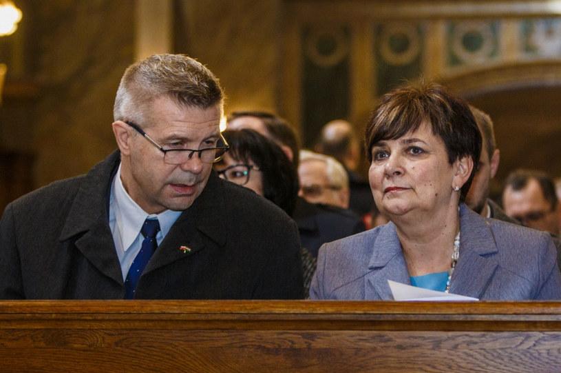 Prezydent Kielc Grzegorz Wenta i Danuta Papaj /Grzegorz Ksel /East News
