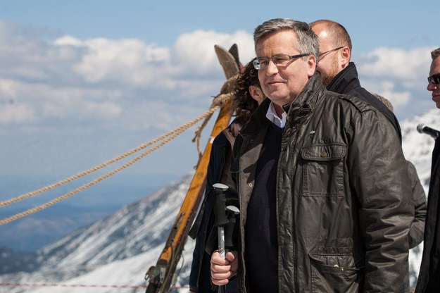 Prezydent Komorowski-podróżnik. Tu na Kasprowym Wierchu /Jan Graczyński /East News