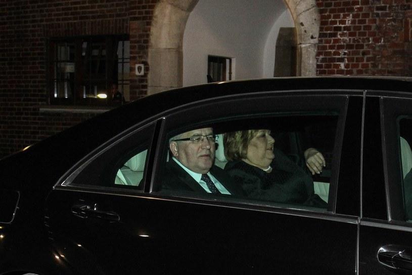 Prezydent Komorowski z żoną pod Wawelem /Jan Graczyński /East News