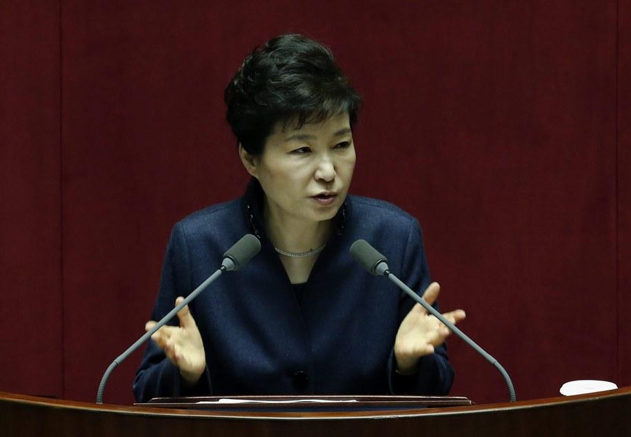 Prezydent Korei Południowej Park Geun Hie /JEON HEON-KYUN /PAP/EPA