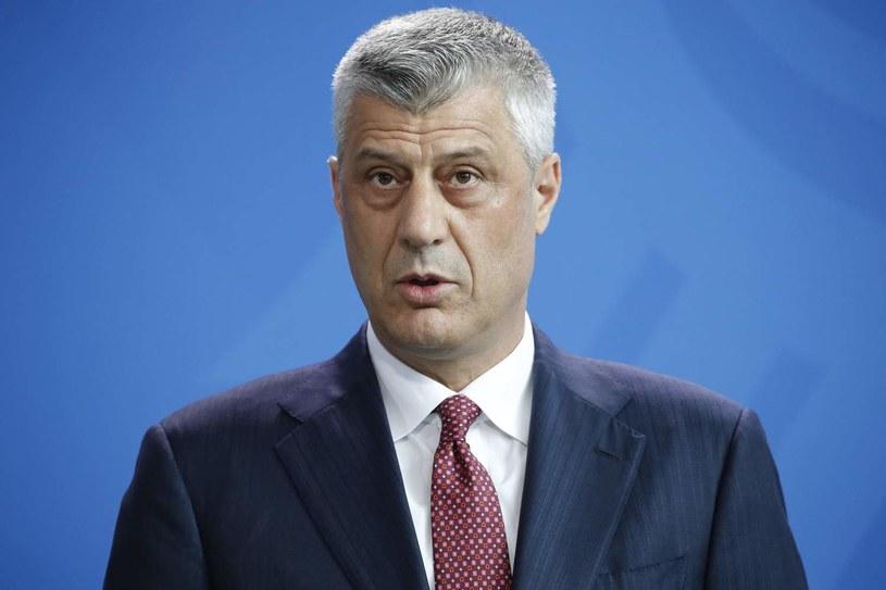 Prezydent Kosowa Hashim Thaci /AFP