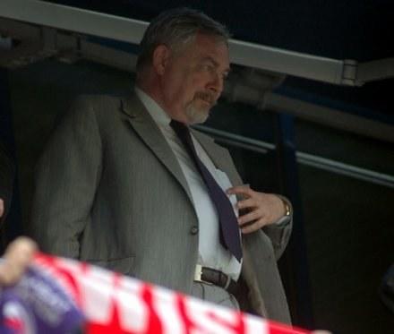 Prezydent Krakowa, Jacek Majchrowski ze spokojem oglądał zwycięstwo Wisły nad Legią /ASInfo