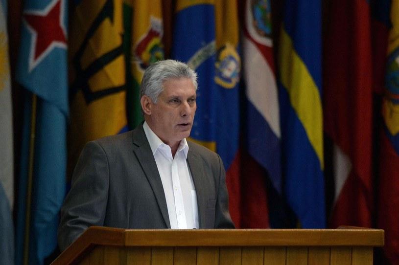 Prezydent Kuby Miguel Diaz-Canel /YAMIL LAGE /AFP