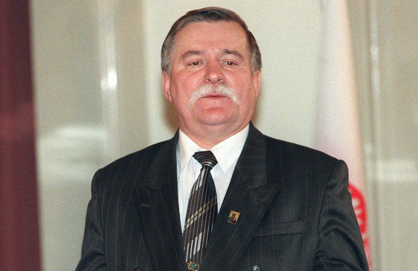 Prezydent Lech Wałęsa w 1995 roku /AFP