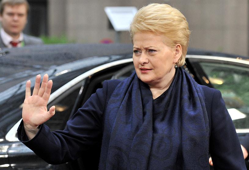 Prezydent Litwy, Dalia Grybauskaite /AFP