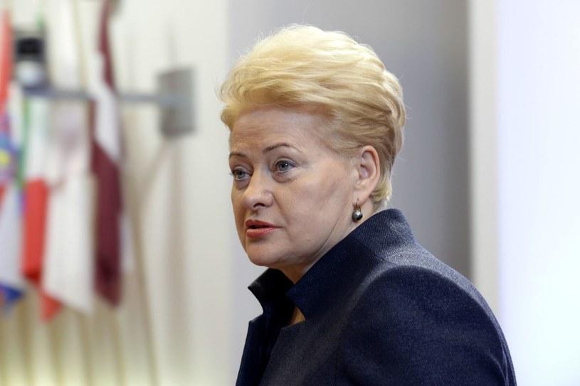 Prezydent Litwy Dalia Grybauskaite /AFP