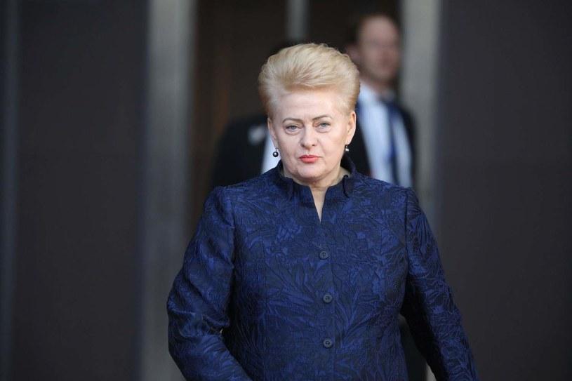 Prezydent Litwy Dalia Grybauskaitė /LUDOVIC MARIN /AFP
