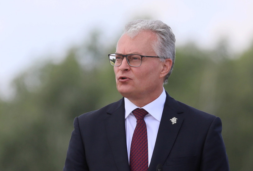 Prezydent Litwy Gitanas Nauseda / Jakub Kamiński    /East News