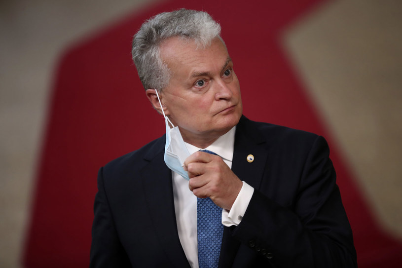 Prezydent Litwy Gitanas Nauseda /Francisco Seco /AFP