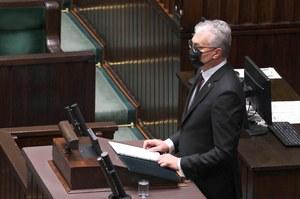Prezydent Litwy w polskim Sejmie: Nigdy nie uznamy aneksji Krymu
