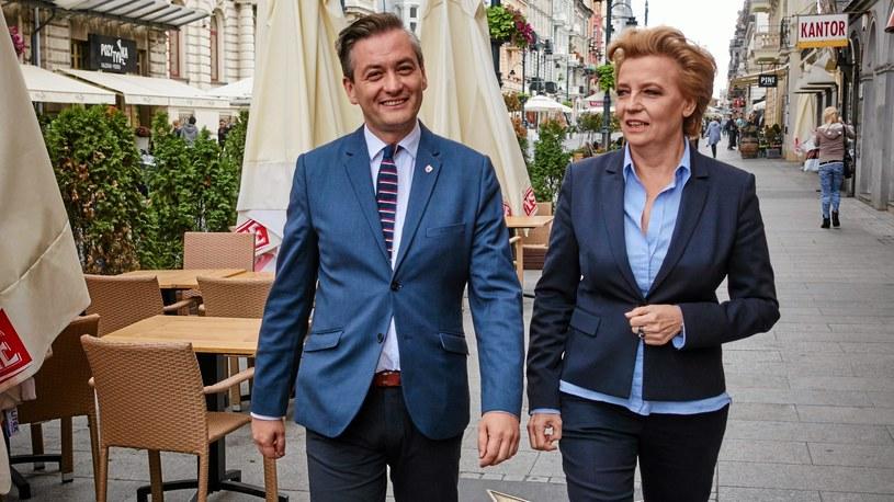 Prezydent Łodzi Hanna Zdanowska oraz prezydent Słupska Robert Biedroń /Tomasz Stańczak  /