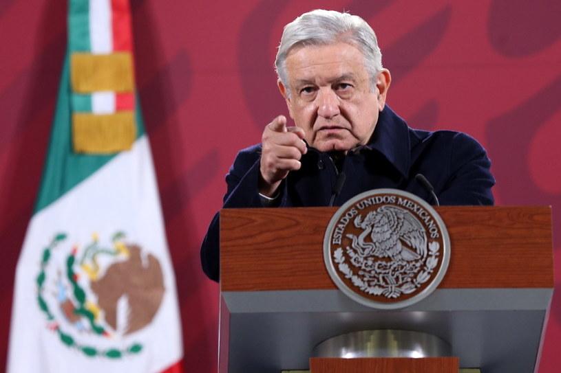 Prezydent Meksyku Andres Manuel Lopez Obrador /SASHENKA GUTIERREZ /PAP/EPA