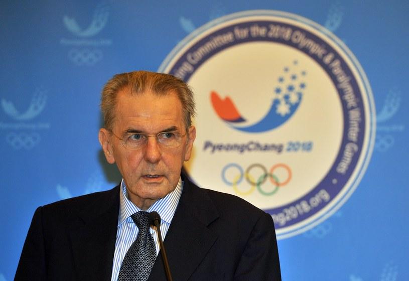 Prezydent Międzynarodowego Komitetu Olimpijskiego Jacques Rogge /AFP