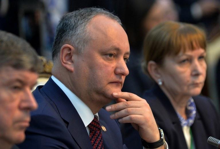 Prezydent Mołdawii Igor Dodon /VYACHESLAV OSELEDKO /AFP